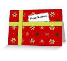 Red Christmas parcel card Greeting Card