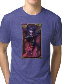 Noxus Poppy (With Challenger border + Mastery 6 ) Tri-blend T-Shirt