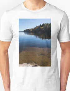 Golden Ripples Bedrock - Fall Mood Reflection   Unisex T-Shirt
