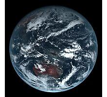 True Color Satellite Photo of Earth - Himawari 8 Photographic Print