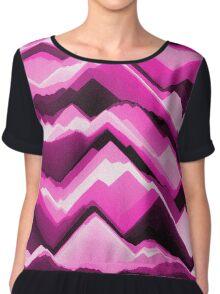 Sand - Pink/Black Patterned Chiffon Top