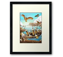 William Tell Escapes Framed Print