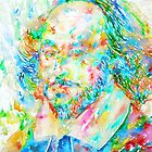 WILLIAM SHAKESPEARE watercolor portrait by lautir