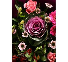 Pink Cabbage Bouquet Photographic Print