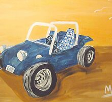 blue dune buggy by Maureen Zaharie