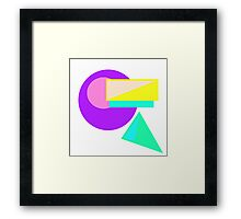Retro-80s Abstract Framed Print