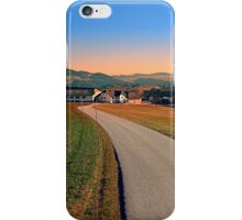 Country road into beautiful panorama | landscape photography iPhone Case/Skin