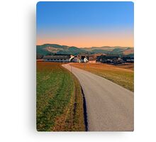 Country road into beautiful panorama | landscape photography Canvas Print