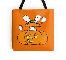 Jack O Lantern Bunny Tote Bag