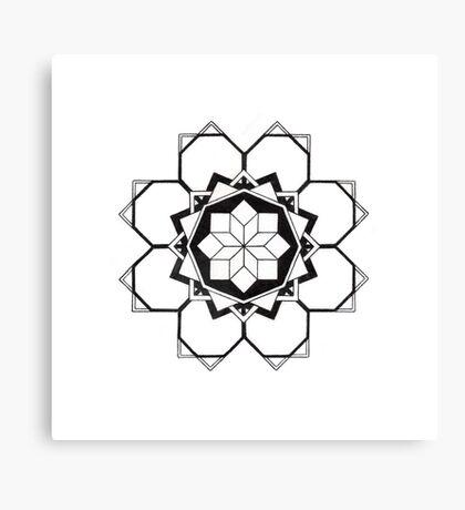 Mandala #205 || Mono Canvas Print