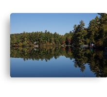 Lakeside Cottage Living - Reflecting on Relaxation Canvas Print