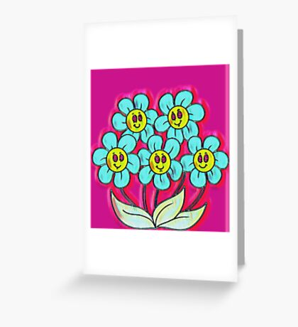 Happy flowers Greeting Card