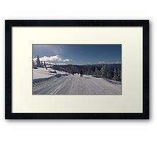 Ski Slope Framed Print