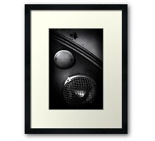 Headlamp detail of VW Type 2 Split Screen camper / bus Framed Print