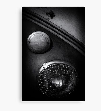 Headlamp detail of VW Type 2 Split Screen camper / bus Canvas Print