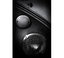 Headlamp detail of VW Type 2 Split Screen camper / bus Photographic Print