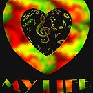 Music is my life-Clothing & Stickers+Pillows & Totes+Phone Cases+Laptop Skins+Cards  by haya1812