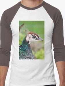 Beautiful Peacock  Men's Baseball ¾ T-Shirt