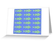 Fish (Blue Green) Greeting Card