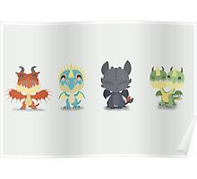 "Tiny Dragons ""How To Train Your Dragon"" Poster"