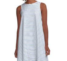 Serenity Stripes A-Line Dress