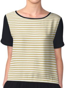 Spicy Mustard Stripes Chiffon Top