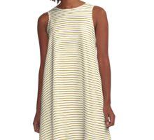 Spicy Mustard Stripes A-Line Dress