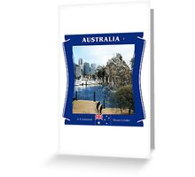 Australia - A Continent Down Under Greeting Card