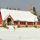 Church in the snow by TonyCrehan