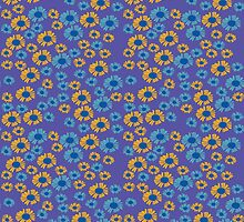 Bright Purple Daisy by Sarah Price