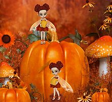 Pumpkin Fairies by LoneAngel