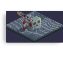 Attack of the Submarine Tin Robot Canvas Print