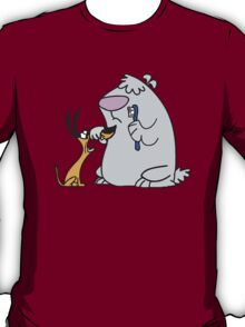 2 Stupid Dogs Cartoon Funny T-Shirt
