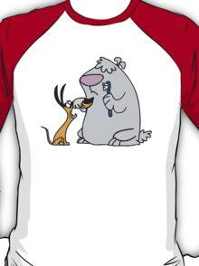 2 Stupid Dogs Cartoon Funny T-Shirt