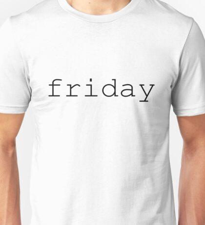 friday black Unisex T-Shirt