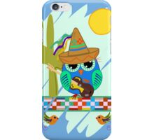Cute Sombrero Owl with a Guitar iPhone Case/Skin