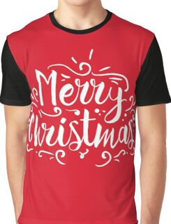 Merry Christmas Typography Graphic T-Shirt