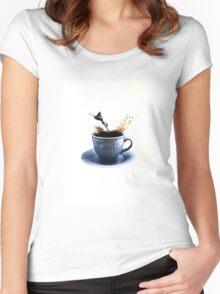 Morning Swim  Women's Fitted Scoop T-Shirt