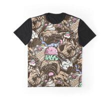 Dogs & Desserts Pattern Graphic T-Shirt