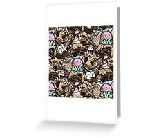 Dogs & Desserts Pattern Greeting Card
