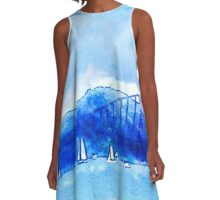San Francisco Harbor A-Line Dress