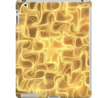 Golden waves iPad Case/Skin