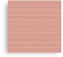 Tangerine Tango Stripes Canvas Print