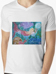 Mermaid and Friends under the sea Mens V-Neck T-Shirt