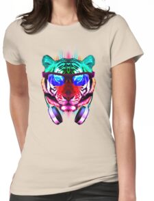 Cool Party Cat Womens Fitted T-Shirt