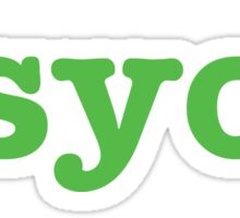 Psych (Dark Gray) attire  Sticker