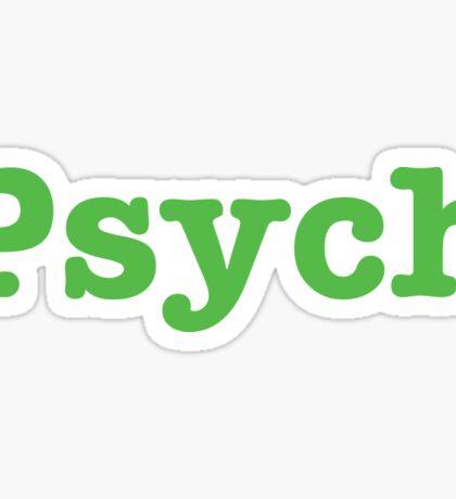 Psych (Dark Gray) attire  Sticker