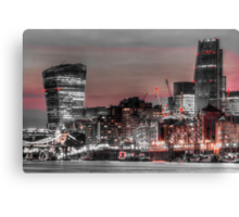 City of London at night Canvas Print
