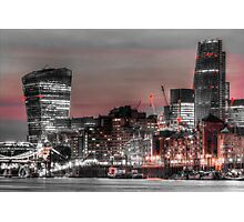 City of London at night Photographic Print