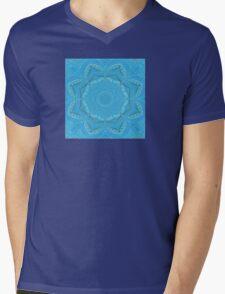 blue background Mens V-Neck T-Shirt
